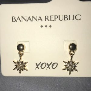 Banana Republic North Star Earrings NWT
